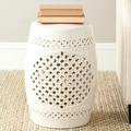 Paradise Gardens Cream Ceramic Garden Stool