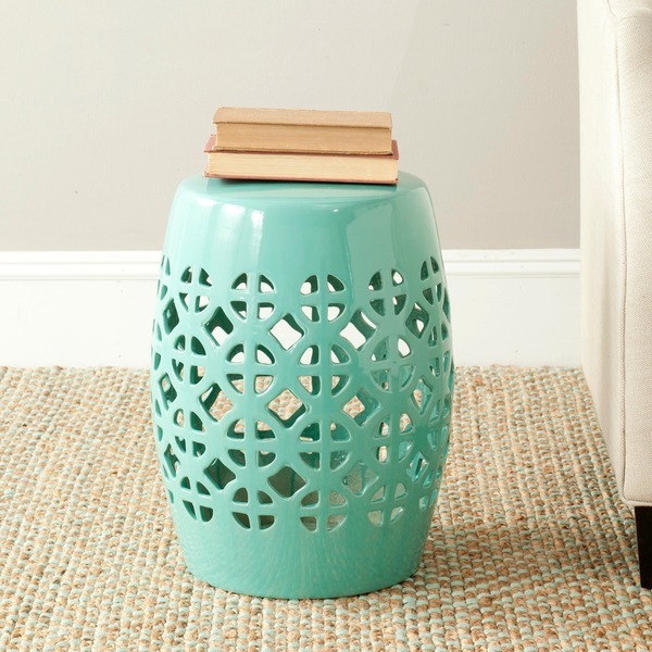 Safavieh Paradise Tranquility Light Blue Ceramic Garden Stool
