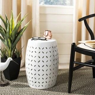 Safavieh Paradise Zen White Ceramic Garden Stool