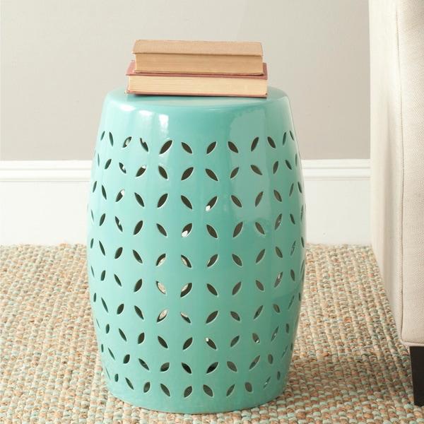 Safavieh Paradise Zen Light Blue Ceramic Garden Stool