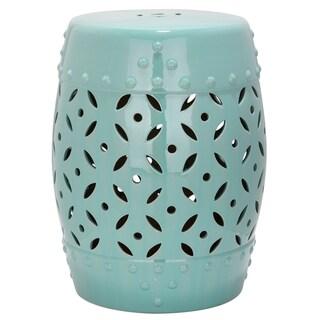 Safavieh Paradise Harmony Light Blue Ceramic Garden Stool
