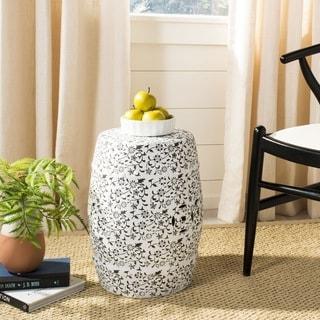 Safavieh Paradise Scrolls White Ceramic Garden Stool