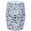 Safavieh Paradise Swallows White Ceramic Garden Stool
