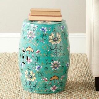 Safavieh Paradise Finds Blue Ceramic Garden Stool