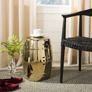 Safavieh Paradise Treasures Gold Ceramic Garden Stool
