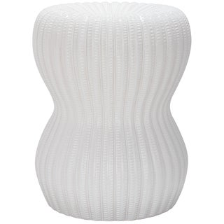 Safavieh Paradise Oval White Ceramic Garden Stool