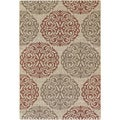 Five Seasons Montecito Cream/ Coral Red Rug (5'10 x 9'2)