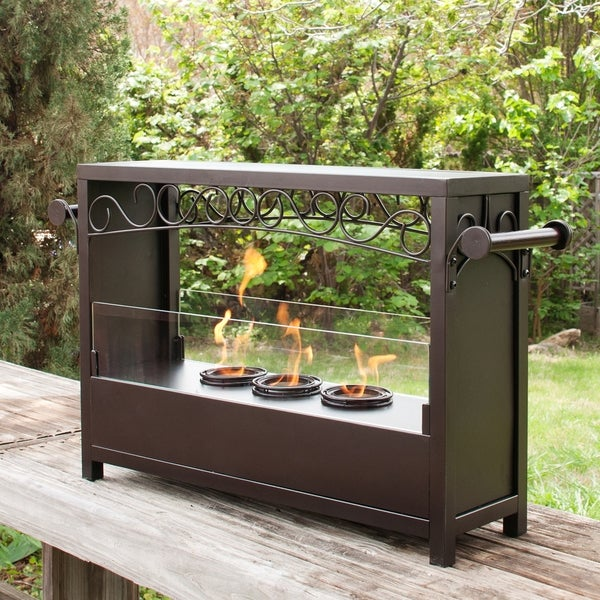 Upton Home Bryden Portable Indoor/ Outdoor Fireplace
