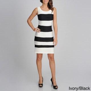 Sophia Christina Women's Textured Stripe Wavy Knit Dress