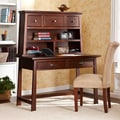 Bruno Espresso Desk with Hutch Set