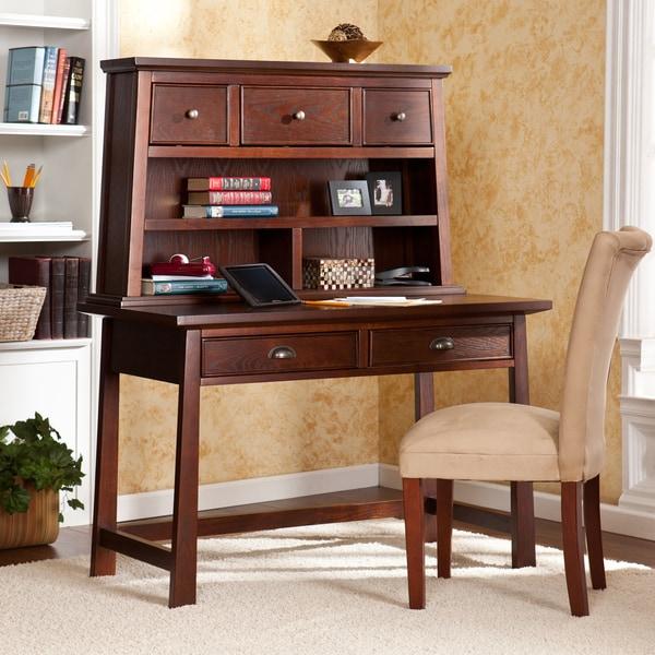 Upton Home Bruno Espresso Desk with Hutch Set