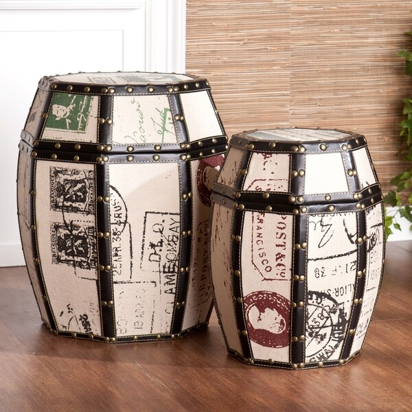Upton Home Paris Storage Drum Set