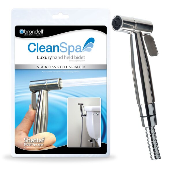 CleanSpa Luxury Stainless Steel Hand Held Shattaf/ Bidet
