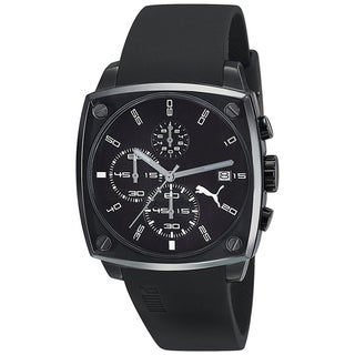 Puma Men's 'Active' Black Steel Chronograph Watch