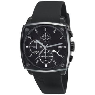 Puma Men's 'Active' Black Steel Chronograph Watch