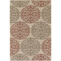 Five Seasons Montecito Cream/ Coral Red Rug (3'7 x 5'5)
