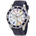 Nautica Men's N12627G Blue Resin Strap White Dial Quartz Watch