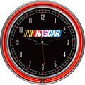 NASCAR Chrome Double Ring Neon Clock