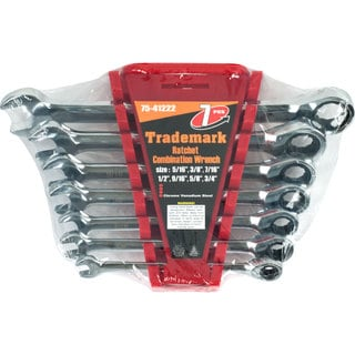 Stalwart Ratchet Combination Wrenches (Set of 7)