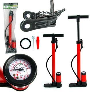 Stalwart Built-in Pressure Gauge Hand Bicycle Pump