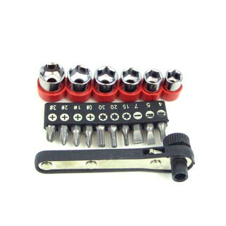Stalwart 17-piece Deluxe Mini Ratchet Screwdriver Set