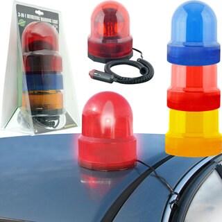 Trademark Tools 3-in-1 Revolving Warning Lights