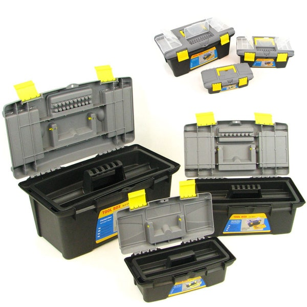 Stalwart 3-piece Durable Tool Box Set