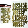 Stalwart 3-D 32-piece Gold Numbers and Symbols