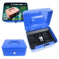 Stalwart 8-inch Blue Key Lock Cash Box