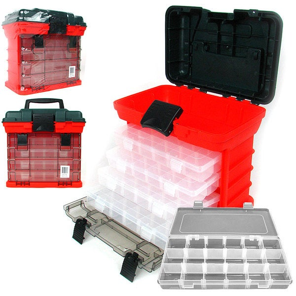 Stalwart 73-compartment Durable Plastic Storage Tool Box