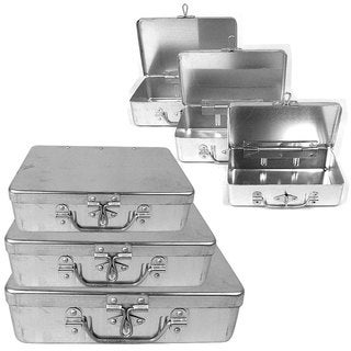 Stalwart 3-piece Aluminum Storage Box with Lockable Clasp