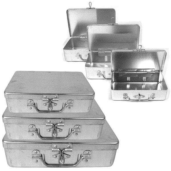 Stalwart 3-piece Aluminum Storage Box with Lockable Clasp