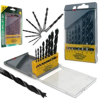 Stalwart Wood Drill 8-piece Bit Set with Storage Case