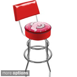 Officially Licensed Collegiate Padded Bar Stool with Back