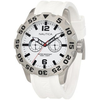 Nautica Men's White Resin Stainless Steel Watch