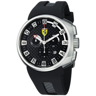 Ferrari Men's Black Stainless Steel Watch