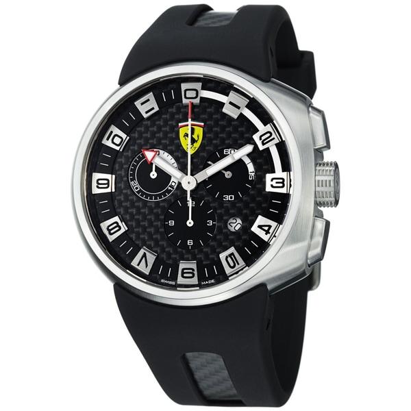 Ferrari Men's Black Stainless Steel Watch