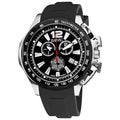 August Steiner Men's Stainless Steel Swiss Quartz Divers Chronograph Watch