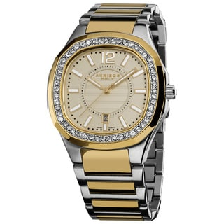Akribos XXIV Women's Silvertone Quartz Stainless Steel Crystal Bracelet Watch