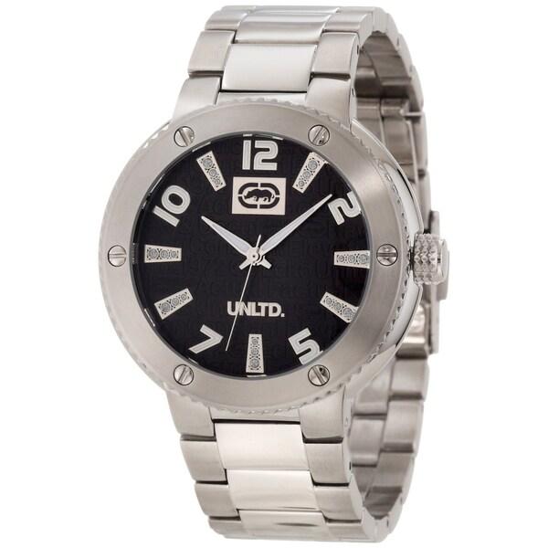 Marc Ecko Men's E12582G2 Silver Stainless Steel Black Dial Quartz Watch