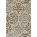Five Seasons Montecito Cream/ Sky Blue Rug (5'3 x 7'6)