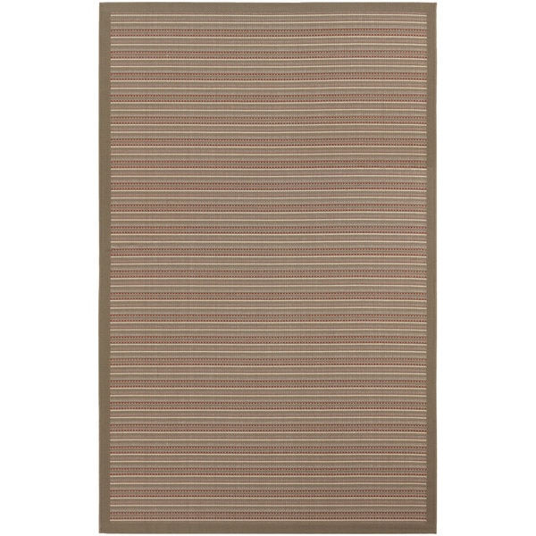 Couristan Tan/ Cream Rug (3'7x 5'5)