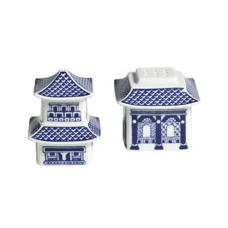 Willow Blue Pagoda Salt/ Pepper Shakers