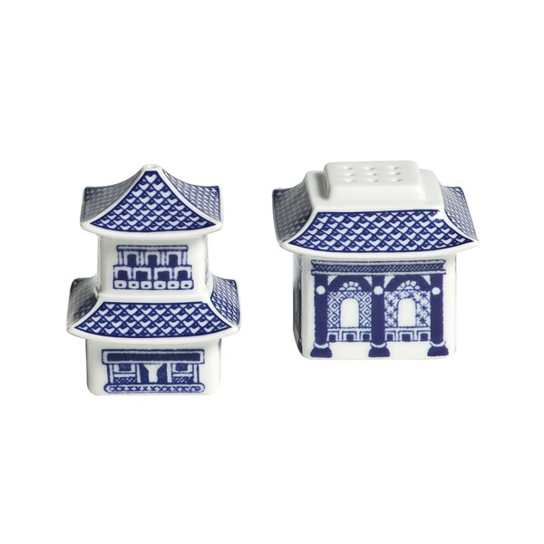 Willow Blue Pagoda Salt/ Pepper Shakers