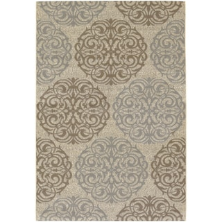 Five Seasons Montecito/ Cream-Sky Blue Area Rug (5'10 x 9'2)