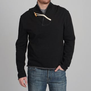 Central Park Men's Black Stretch Fleece Toggle Pullover