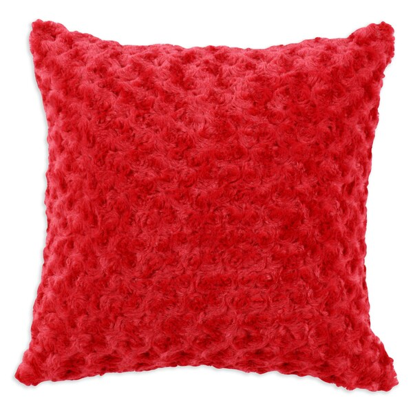 Rosebud Red Simply Soft-Passion Suede 17-inch Throw Pillows (Set of 2)