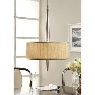 Retro Mid-Century Metal 3-light Brushed Nickel Pendant