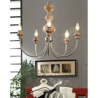 Latte 5-Light Brushed Nickel Chandelier