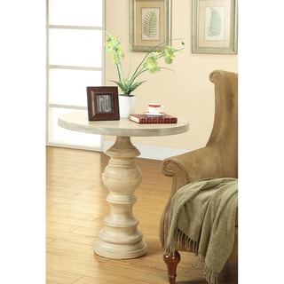 Milkwash Finish Pedestal Table
